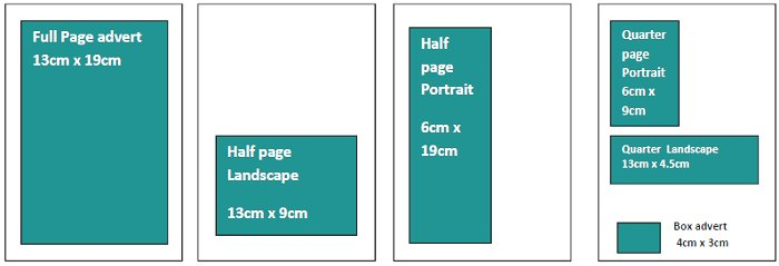 advertisement sizes